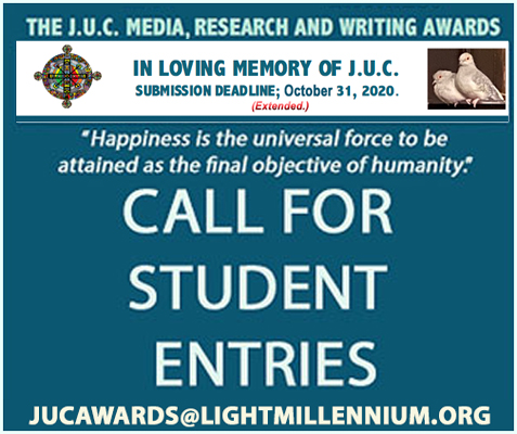 CALL FOR STUDENT ENTRIES: THE J.U.C. MEDIA, RESEARCH AND WRITING AWARDS – Submission Deadline is Extended to: October 31, 2020
