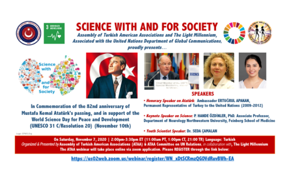 SCIENCE WITH AND FOR SOCIETY #ScienceDay #Atatürk